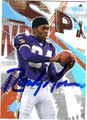 RANDY MOSS AUTOGRAPHED FOOTBALL CARD #81011D