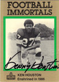 KEN HOUSTON AUTOGRAPHED FOOTBALL CARD #81112C