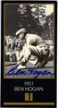 BEN HOGAN GRAND SLAM VENTURES AUTOGRAPHED GOLF CARD #81113A