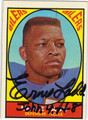 ERNIE LADD HOUSTON OILERS AUTOGRAPHED VINTAGE FOOTBALL CARD #81113E