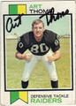 ART THOMS OAKLAND RAIDERS AUTOGRAPHED VINTAGE FOOTBALL CARD #81113i