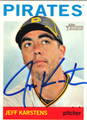 JEFF KARSTENS PITTSBURGH PIRATES AUTOGRAPHED BASEBALL CARD #81213H