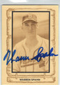 WARREN SPAHN MILWAUKEE BRAVES AUTOGRAPHED VINTAGE BASEBALL CARD #81213J