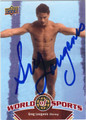 GREG LOUGANIS AUTOGRAPHED DIVING CARD #81412H