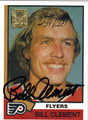 BILL CLEMENT AUTOGRAPHED HOCKEY CARD #81412L