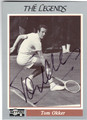 TOM OKKER AUTOGRAPHED TENNIS CARD #81413C