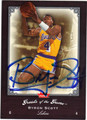 BYRON SCOTT LOS ANGELES LAKERS AUTOGRAPHED BASKETBALL CARD #81413J