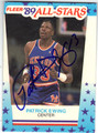 PATRICK EWING NEW YORK KNICKS AUTOGRAPHED BASKETBALL CARD #81513A