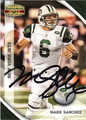 MARK SANCHEZ AUTOGRAPHED FOOTBALL CARD #81412J