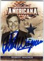 ROBERT WAGNER AUTOGRAPHED & NUMBERED WORN PIECE OF CLOTHING CARD #81611i