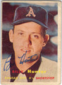BILLY HUNTER KANSAS CITY ATHLETICS AUTOGRAPHED VINTAGE BASEBALL CARD #81513i