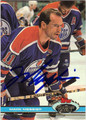 MARK MESSIER EDMONTON OILERS AUTOGRAPHED HOCKEY CARD #81513G