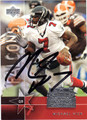 MICHAEL VICK AUTOGRAPHED FOOTBALL CARD #81611O