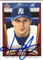 JASON GIAMBI NEW YORK YANKEES AUTOGRAPHED BASEBALL CARD #81613H