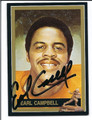 EARL CAMPBELL AUTOGRAPHED CARD #81710VV