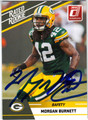 MORGAN BURNETT AUTOGRAPHED ROOKIE FOOTBALL CARD #81711F