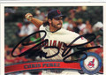 CHRIS PEREZ CLEVELAND INDIANS AUTOGRAPHED BASEBALL CARD #81713F