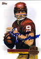 SONNY JURGENSEN WASHINGTON REDSKINS AUTOGRAPHED FOOTBALL CARD #81713H