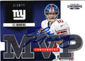 ELI MANNING NEW YORK GIANTS AUTOGRAPHED FOOTBALL CARD #81813J