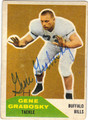 GENE GRABOSKY BUFFALO BILLS AUTOGRAPHED VINTAGE FOOTBALL CARD #81913D