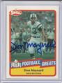 Don Maynard Autographed Football Card #82010Z