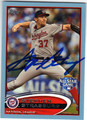 STEPHEN STRASBURG WASHINGTON NATIONALS AUTOGRAPHED BASEBALL CARD #82013i