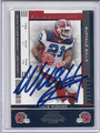 Willis McGahee Autographed Football Card #82110i