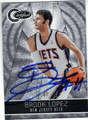 BROOK LOPEZ NEW JERSEY NETS AUTOGRAPHED & NUMBERED BASKETBALL CARD #82113F