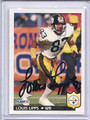 Louis Lipps Autographed Football Card #82210Z