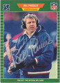 BILL PARCELLS AUTOGRAPHED FOOTBALL CARD #82212D
