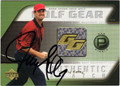 JERRY KELLY AUTOGRAPHED PIECE OF THE GAME GOLF CARD #82213B