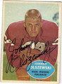 JOHNNY OLSZEWSKI WASHINGTON REDSKINS AUTOGRAPHED VINTAGE FOOTBALL CARD #82113J