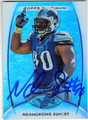 NDAMUKONG SUH DETROIT LIONS AUTOGRAPHED FOOTBALL CARD #82313E