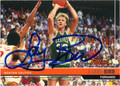 LARRY BIRD BOSTON CELTICS AUTOGRAPHED BASKETBALL CARD #82413C