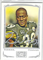 WILLIE PARKER PITTSBURGH STEELERS AUTOGRAPHED FOOTBALL CARD #82413D