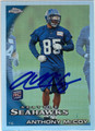 ANTHONY McCOY SEATTLE SEAHAWKS AUTOGRAPHED ROOKIE FOOTBALL CARD #82413J