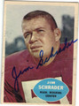 JIM SCHRADER WASHINGTON REDSKINS AUTOGRAPHED VINTAGE FOOTBALL CARD #82213H