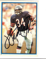 WALTER PAYTON CHICAGO BEARS AUTOGRAPHED STICKER FOOTBALL CARD #82513K