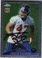 TRAVIS BECKUM NEW YORK GIANTS AUTOGRAPHED ROOKIE FOOTBALL CARD #82513H