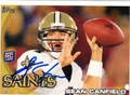 SEAN CANFIELD AUTOGRAPHED ROOKIE FOOTBALL CARD #82612H