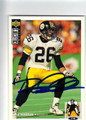 ROD WOODSON PITTSBURGH STEELERS AUTOGRAPHED FOOTBALL CARD #82613J