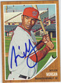 NYJER MORGAN  AUTOGRAPHED BASEBALL CARD #82711A