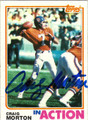CRAIG MORTON AUTOGRAPHED VINTAGE FOOTBALL CARD #82711L