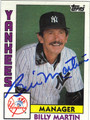 BILLY MARTIN NEW YORK YANKEES MANAGER AUTOGRAPHED VINTAGE BASEBALL CARD #82813i