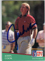 JOHN COOK AUTOGRAPHED GOLF CARD #82713D