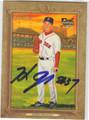HIDEKI OKAJIMA BOSTON RED SOX AUTOGRAPHED BASEBALL CARD #82913G