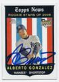 ALBERTO GONZALEZ AUTOGRAPHED BASEBALL CARD #83010C