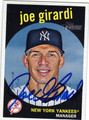 JOE GIRARDI NEW YORK YANKEES AUTOGRAPHED BASEBALL CARD #82913A