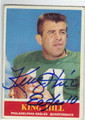 KING HILL PHILADELPHIA EAGLES AUTOGRAPHED VINTAGE FOOTBALL CARD #83013D
