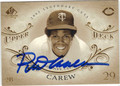 ROD CAREW MINNESOTA TWINS AUTOGRAPHED BASEBALL CARD #83113D